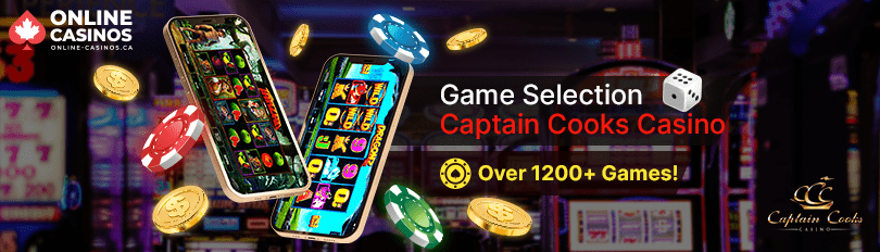 Captain Cooks Casino Game Selection