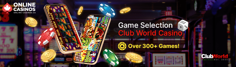 Club World Casino Game Selection